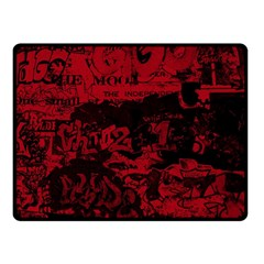 Graffiti Double Sided Fleece Blanket (small)  by ValentinaDesign