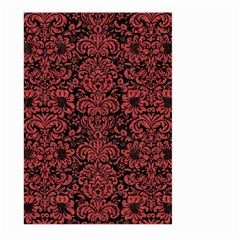 Damask2 Black Marble & Red Denim (r) Large Garden Flag (two Sides) by trendistuff