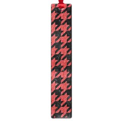 Houndstooth1 Black Marble & Red Denim Large Book Marks by trendistuff