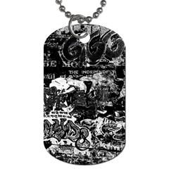 Graffiti Dog Tag (two Sides) by ValentinaDesign