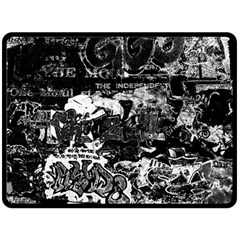Graffiti Fleece Blanket (large)  by ValentinaDesign