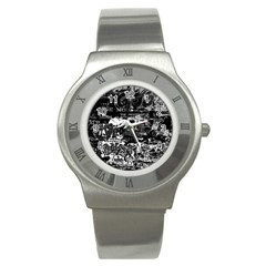 Graffiti Stainless Steel Watch by ValentinaDesign