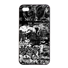 Graffiti Apple Iphone 4/4s Seamless Case (black) by ValentinaDesign