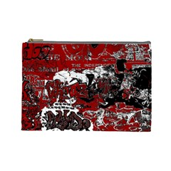 Graffiti Cosmetic Bag (large)  by ValentinaDesign