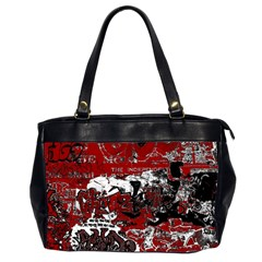 Graffiti Office Handbags (2 Sides)  by ValentinaDesign