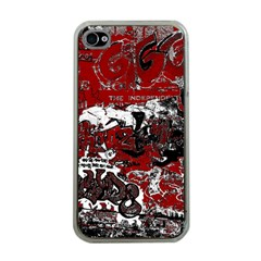 Graffiti Apple Iphone 4 Case (clear) by ValentinaDesign