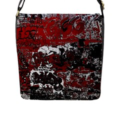 Graffiti Flap Messenger Bag (l)  by ValentinaDesign