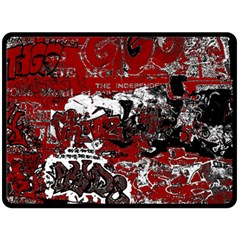 Graffiti Double Sided Fleece Blanket (large)  by ValentinaDesign