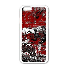 Graffiti Apple Iphone 6/6s White Enamel Case by ValentinaDesign
