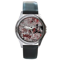 Graffiti Round Metal Watch