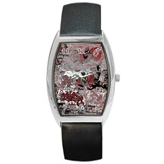 Graffiti Barrel Style Metal Watch by ValentinaDesign
