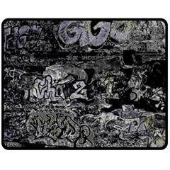 Graffiti Fleece Blanket (medium)  by ValentinaDesign
