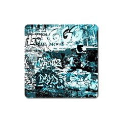 Graffiti Square Magnet by ValentinaDesign