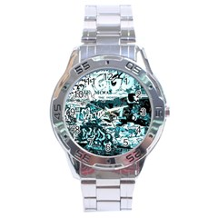 Graffiti Stainless Steel Analogue Watch by ValentinaDesign