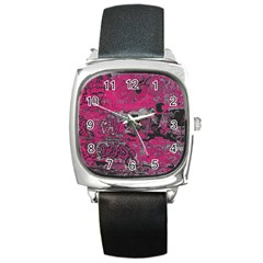 Graffiti Square Metal Watch by ValentinaDesign