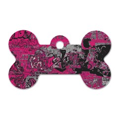 Graffiti Dog Tag Bone (one Side) by ValentinaDesign