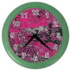 Graffiti Color Wall Clocks by ValentinaDesign