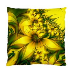 Beautiful Yellow Green Meadow Of Daffodil Flowers Standard Cushion Case (two Sides) by beautifulfractals