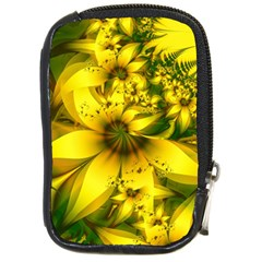 Beautiful Yellow Green Meadow Of Daffodil Flowers Compact Camera Cases by jayaprime
