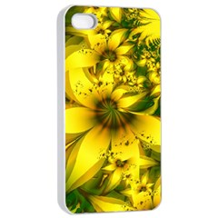 Beautiful Yellow Green Meadow Of Daffodil Flowers Apple Iphone 4/4s Seamless Case (white) by beautifulfractals