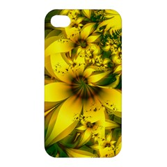 Beautiful Yellow Green Meadow Of Daffodil Flowers Apple Iphone 4/4s Hardshell Case by beautifulfractals