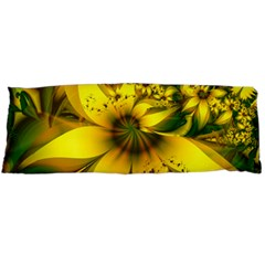 Beautiful Yellow Green Meadow Of Daffodil Flowers Body Pillow Case Dakimakura (two Sides) by jayaprime