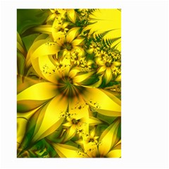 Beautiful Yellow Green Meadow Of Daffodil Flowers Large Garden Flag (two Sides) by jayaprime