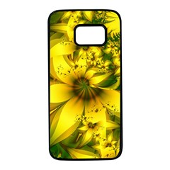 Beautiful Yellow Green Meadow Of Daffodil Flowers Samsung Galaxy S7 Black Seamless Case by beautifulfractals