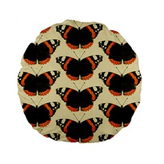 Butterfly Butterflies Insects Standard 15  Premium Flano Round Cushions by Celenk