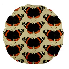Butterfly Butterflies Insects Large 18  Premium Flano Round Cushions by Celenk