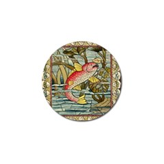 Fish Underwater Cubism Mosaic Golf Ball Marker (4 Pack) by Celenk