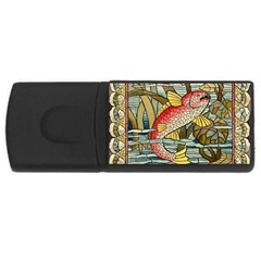 Fish Underwater Cubism Mosaic Rectangular Usb Flash Drive by Celenk