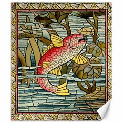 Fish Underwater Cubism Mosaic Canvas 20  X 24   by Celenk