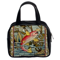 Fish Underwater Cubism Mosaic Classic Handbags (2 Sides) by Celenk