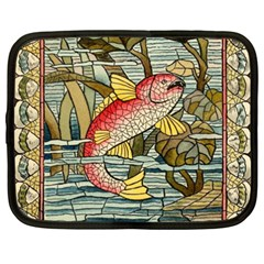 Fish Underwater Cubism Mosaic Netbook Case (xxl)  by Celenk