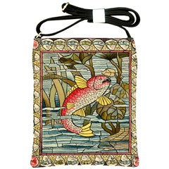 Fish Underwater Cubism Mosaic Shoulder Sling Bags by Celenk