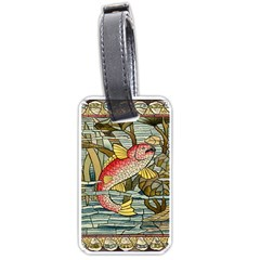 Fish Underwater Cubism Mosaic Luggage Tags (two Sides) by Celenk