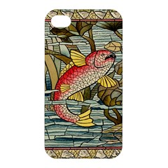Fish Underwater Cubism Mosaic Apple Iphone 4/4s Premium Hardshell Case by Celenk