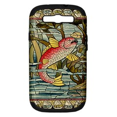 Fish Underwater Cubism Mosaic Samsung Galaxy S Iii Hardshell Case (pc+silicone) by Celenk
