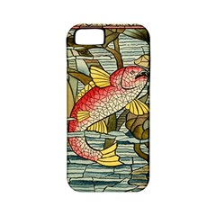 Fish Underwater Cubism Mosaic Apple Iphone 5 Classic Hardshell Case (pc+silicone) by Celenk