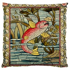 Fish Underwater Cubism Mosaic Standard Flano Cushion Case (one Side) by Celenk