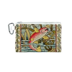 Fish Underwater Cubism Mosaic Canvas Cosmetic Bag (s) by Celenk
