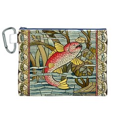 Fish Underwater Cubism Mosaic Canvas Cosmetic Bag (xl) by Celenk