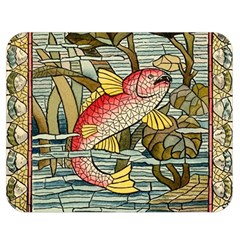 Fish Underwater Cubism Mosaic Double Sided Flano Blanket (medium)  by Celenk