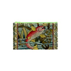 Fish Underwater Cubism Mosaic Cosmetic Bag (xs) by Celenk
