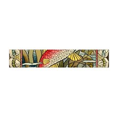 Fish Underwater Cubism Mosaic Flano Scarf (mini) by Celenk