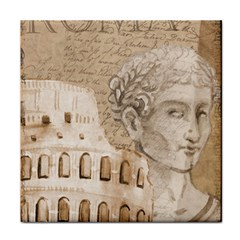 Colosseum Rome Caesar Background Tile Coasters by Celenk