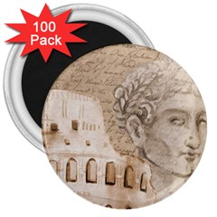 Colosseum Rome Caesar Background 3  Magnets (100 Pack) by Celenk