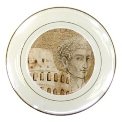 Colosseum Rome Caesar Background Porcelain Plates by Celenk