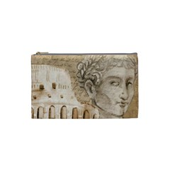 Colosseum Rome Caesar Background Cosmetic Bag (small)  by Celenk